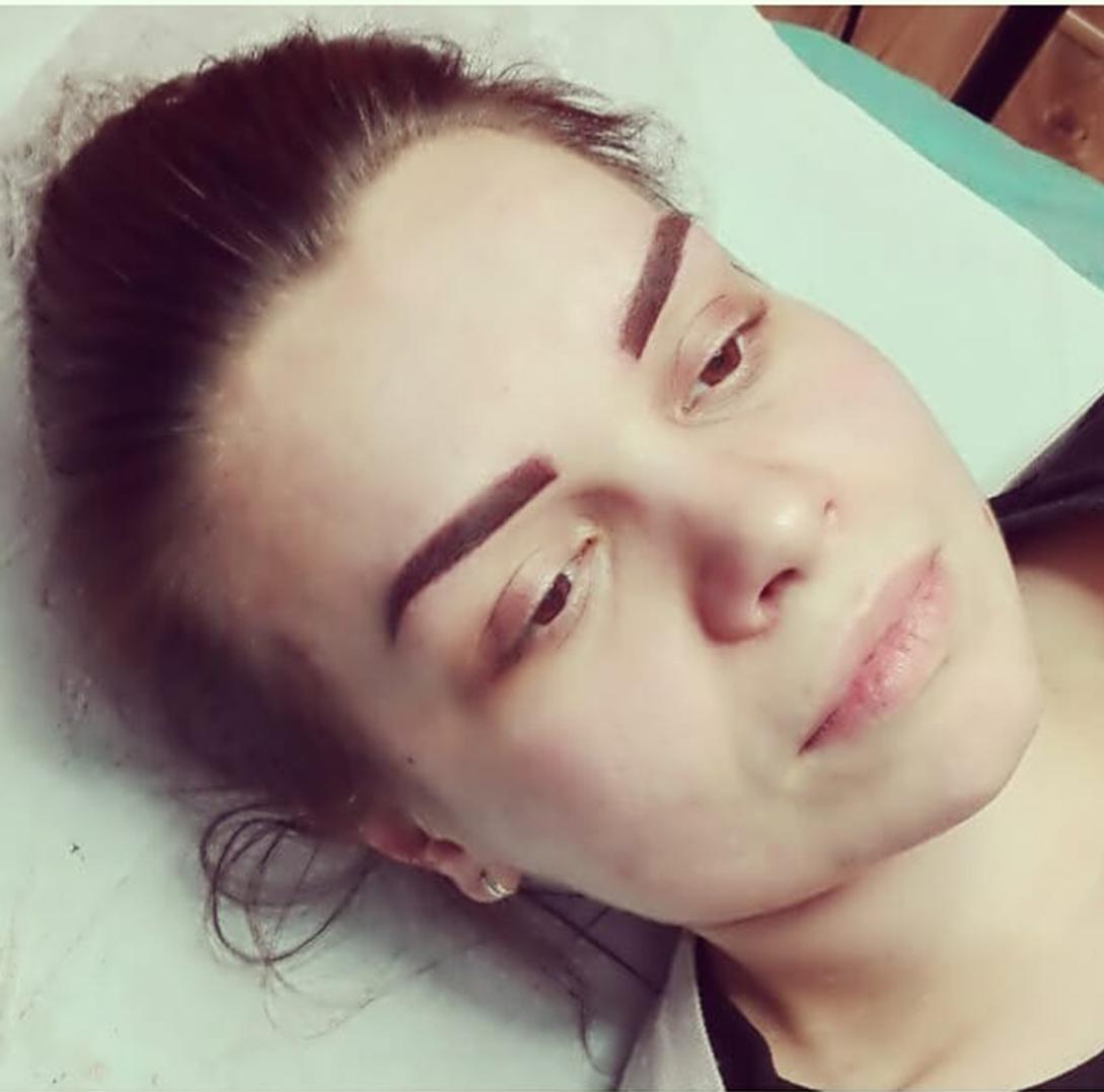 Makijaż Permanentny Metodą Pudrową Piórkową Naturalny Permanentny